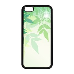 Spring Leaves Nature Light Apple Iphone 5c Seamless Case (black) by Simbadda