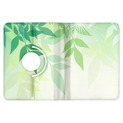 Spring Leaves Nature Light Kindle Fire Hdx Flip 360 Case by Simbadda