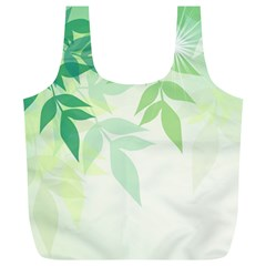 Spring Leaves Nature Light Full Print Recycle Bags (l)  by Simbadda