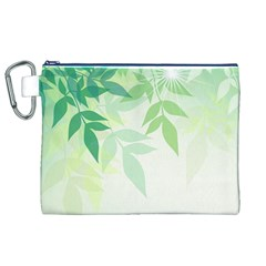 Spring Leaves Nature Light Canvas Cosmetic Bag (xl) by Simbadda