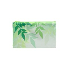 Spring Leaves Nature Light Cosmetic Bag (xs) by Simbadda