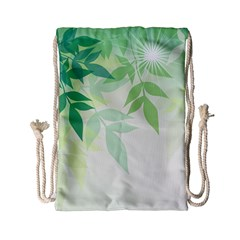 Spring Leaves Nature Light Drawstring Bag (small) by Simbadda