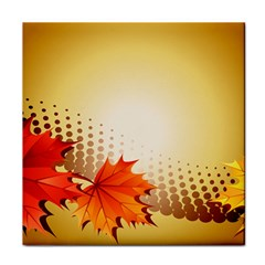 Background Leaves Dry Leaf Nature Tile Coasters by Simbadda