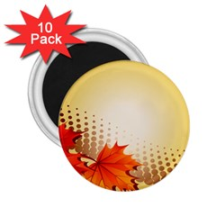 Background Leaves Dry Leaf Nature 2 25  Magnets (10 Pack)  by Simbadda