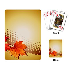 Background Leaves Dry Leaf Nature Playing Card by Simbadda