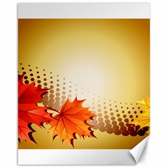 Background Leaves Dry Leaf Nature Canvas 16  X 20   by Simbadda