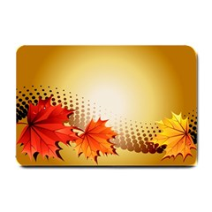 Background Leaves Dry Leaf Nature Small Doormat  by Simbadda