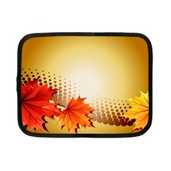 Background Leaves Dry Leaf Nature Netbook Case (small)