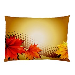 Background Leaves Dry Leaf Nature Pillow Case by Simbadda