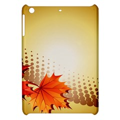Background Leaves Dry Leaf Nature Apple Ipad Mini Hardshell Case by Simbadda