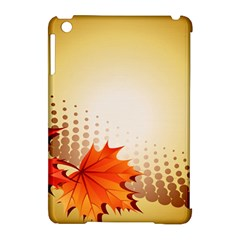 Background Leaves Dry Leaf Nature Apple Ipad Mini Hardshell Case (compatible With Smart Cover) by Simbadda