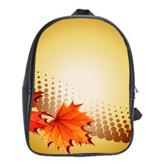 Background Leaves Dry Leaf Nature School Bags (xl)  by Simbadda