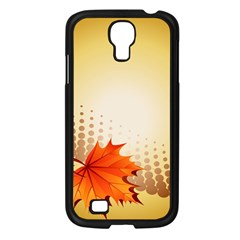 Background Leaves Dry Leaf Nature Samsung Galaxy S4 I9500/ I9505 Case (black) by Simbadda