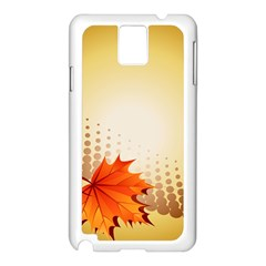 Background Leaves Dry Leaf Nature Samsung Galaxy Note 3 N9005 Case (white) by Simbadda