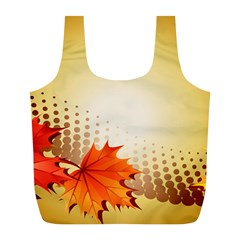 Background Leaves Dry Leaf Nature Full Print Recycle Bags (l)  by Simbadda