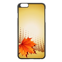 Background Leaves Dry Leaf Nature Apple Iphone 6 Plus/6s Plus Black Enamel Case by Simbadda