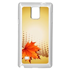 Background Leaves Dry Leaf Nature Samsung Galaxy Note 4 Case (white) by Simbadda