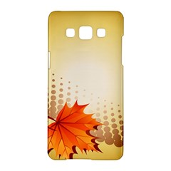 Background Leaves Dry Leaf Nature Samsung Galaxy A5 Hardshell Case  by Simbadda