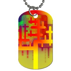 Binary Binary Code Binary System Dog Tag (one Side) by Simbadda