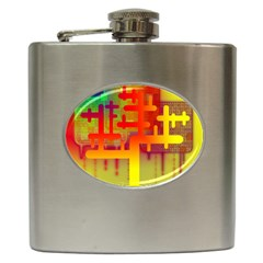 Binary Binary Code Binary System Hip Flask (6 Oz) by Simbadda