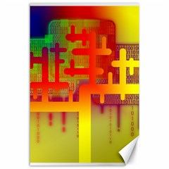 Binary Binary Code Binary System Canvas 24  X 36  by Simbadda