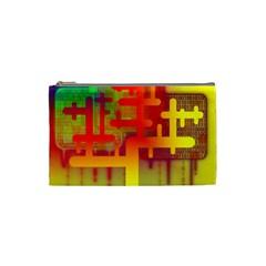 Binary Binary Code Binary System Cosmetic Bag (small)  by Simbadda