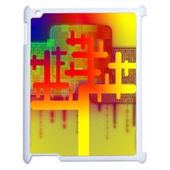 Binary Binary Code Binary System Apple Ipad 2 Case (white) by Simbadda