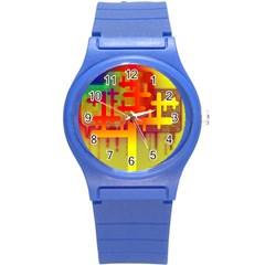Binary Binary Code Binary System Round Plastic Sport Watch (s) by Simbadda
