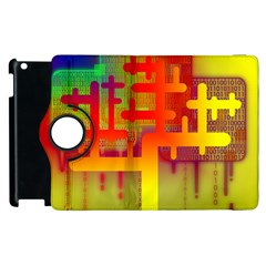 Binary Binary Code Binary System Apple Ipad 3/4 Flip 360 Case by Simbadda