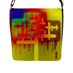 Binary Binary Code Binary System Flap Messenger Bag (l)  by Simbadda