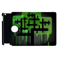 Binary Binary Code Binary System Apple Ipad 2 Flip 360 Case by Simbadda
