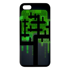 Binary Binary Code Binary System Apple Iphone 5 Premium Hardshell Case by Simbadda