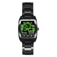 Binary Binary Code Binary System Stainless Steel Barrel Watch by Simbadda