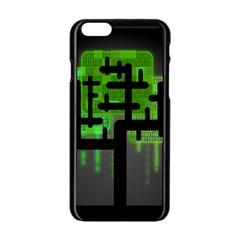 Binary Binary Code Binary System Apple Iphone 6/6s Black Enamel Case by Simbadda