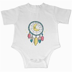 Cute Hand Drawn Dreamcatcher Illustration Infant Creepers by TastefulDesigns