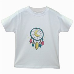 Cute Hand Drawn Dreamcatcher Illustration Kids White T Shirts by TastefulDesigns