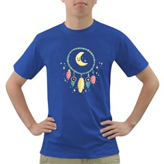 Cute Hand Drawn Dreamcatcher Illustration Dark T Shirt by TastefulDesigns