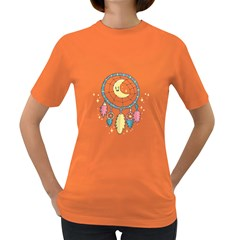 Cute Hand Drawn Dreamcatcher Illustration Women s Dark T Shirt by TastefulDesigns