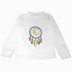Cute Hand Drawn Dreamcatcher Illustration Kids Long Sleeve T Shirts by TastefulDesigns