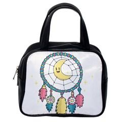 Cute Hand Drawn Dreamcatcher Illustration Classic Handbags (one Side) by TastefulDesigns