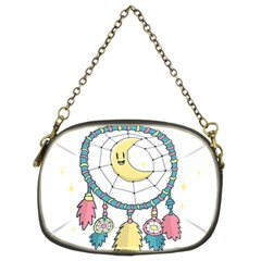 Cute Hand Drawn Dreamcatcher Illustration Chain Purses (two Sides)  by TastefulDesigns