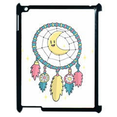 Cute Hand Drawn Dreamcatcher Illustration Apple Ipad 2 Case (black) by TastefulDesigns