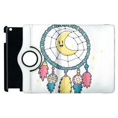 Cute Hand Drawn Dreamcatcher Illustration Apple Ipad 3/4 Flip 360 Case by TastefulDesigns