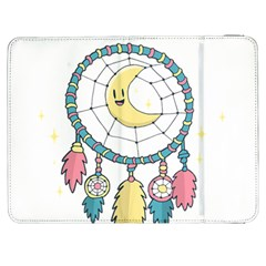 Cute Hand Drawn Dreamcatcher Illustration Samsung Galaxy Tab 7  P1000 Flip Case by TastefulDesigns
