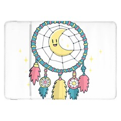 Cute Hand Drawn Dreamcatcher Illustration Samsung Galaxy Tab 8 9  P7300 Flip Case by TastefulDesigns