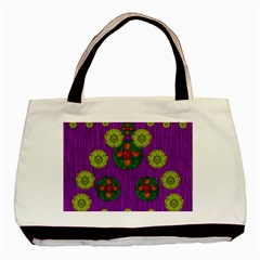 Buddha Blessings Fantasy Basic Tote Bag by pepitasart