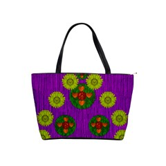 Buddha Blessings Fantasy Shoulder Handbags by pepitasart
