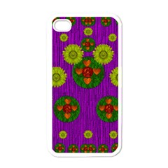 Buddha Blessings Fantasy Apple Iphone 4 Case (white) by pepitasart
