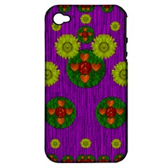 Buddha Blessings Fantasy Apple Iphone 4/4s Hardshell Case (pc+silicone) by pepitasart