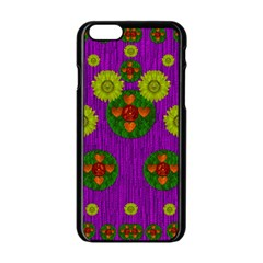 Buddha Blessings Fantasy Apple Iphone 6/6s Black Enamel Case by pepitasart